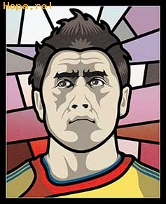 Caricaturi fotbalisti Euro 2008 - Ciprian Marica - Euro 2008